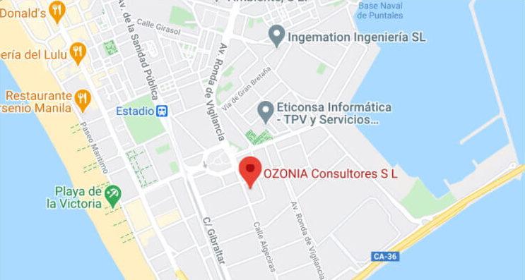 Mapa OZONIA